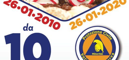 26 Gen 2020 Protezione Civile Volontari Minerva – Volantino dieci anni